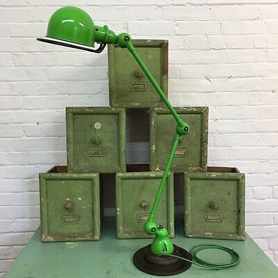 Industrial Vintage French Antique Factory Anglepoise Jielde Desk Lamp Light