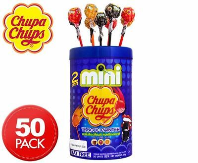 Mini Chupa Chups Tub Tongue Painter Cola Strawberry Candy Party Lollies Lolly