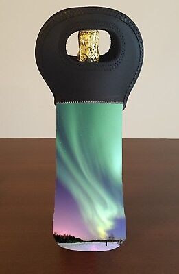 Aurora Borealis Wine Bottle Cooler Bag