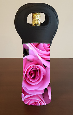 PINK ROSES Wine Bottle Cooler Bag