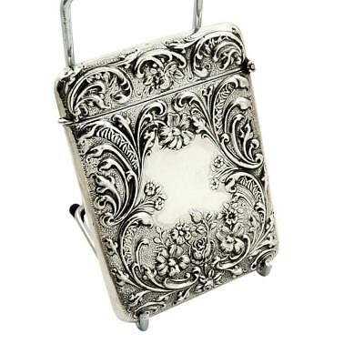 Antique Edwardian Sterling Silver Card Case  - 1907