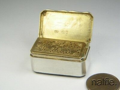 ANTIQUE ENGLISH SILVER VINAIGRETTE w/ AGATE BASE by SAMPSON MORDAN & Co c1870