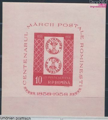 Romania block41 MNH 1958 100 years Romanian Stamps (8688272