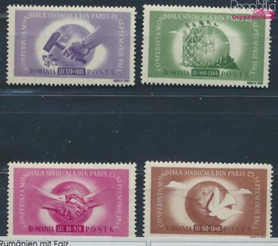 Romania 917-920 with hinge 1945 World-Trade Union Congress (8688246