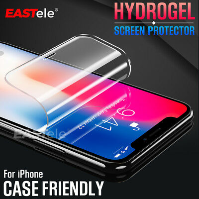 EASTele HYDROGEL AQUA FLEX Screen Protector Apple iPhone XS Max XR X 8 7 6s Plus