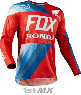 Fox Racing 360 Honda Red Blue White Offroad Motocross Race Jersey Adults Small