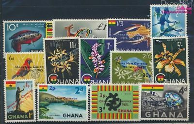 Ghana 224-236 unmounted mint / never hinged 1965 Dezimalsystem (8777077