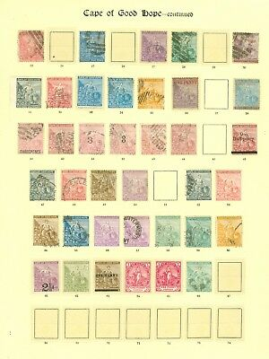 Cape of good hope 1864-1893. Mint & used selection on album page. Values to...