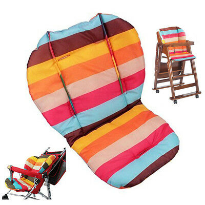5 Color Baby Stroller High Chair Seat Pad Cushion Rainbow Seat Liners Breathable