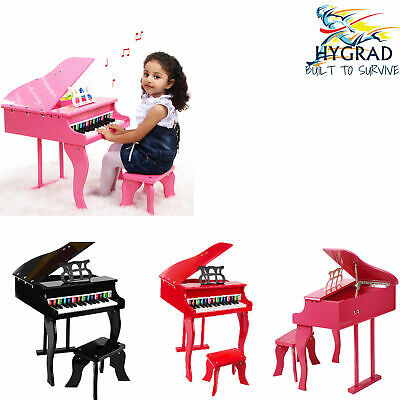G4RCE Educational Children's 30 key Kids Toy Grand Baby Wooden Piano with Bench