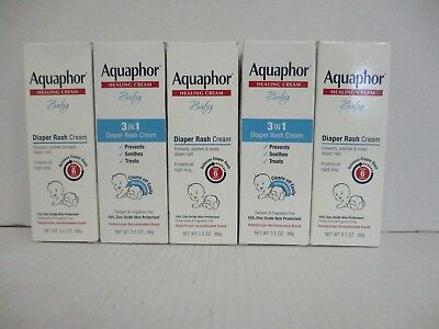 5 AQUAPHOR HEALING CREAM BABY DIAPER RASH CREAM 3.5oz EA EXP 7/18+ DE 5670