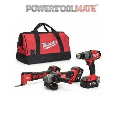 Milwaukee M18FPP3D-502B 3 Piece 18V FUEL Power 3D 2x5.0Ah Combo Kit
