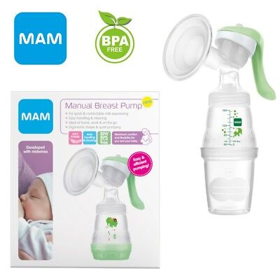 MAM Baby Infant Breast Feeding Manual Pump Bottles 0m+