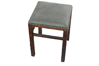 Old Stool Wood Cover Vintage Art Deco Retro Holzkocher Seat