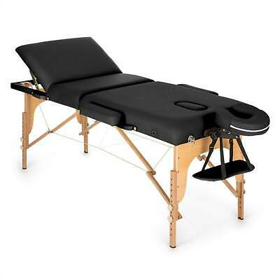 Table de massage Klarfit 210 cm 200 kg pliante mousse cellules fines - noir