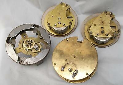 VINTAGE JOB-LOT x3 (+1) MECHANICAL CLOCK MOVEMENT FOR SPARES (PARTS) OR REPAIR