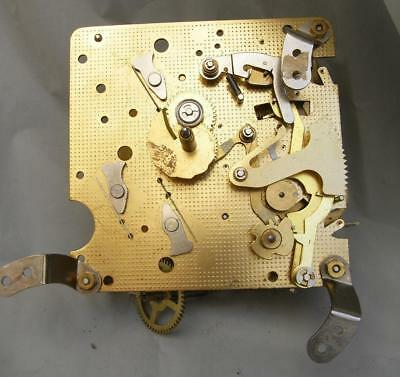 Vintage Fhs 340-020 (Germany) Brass Mechanical Clock Movement For Spares (Parts)