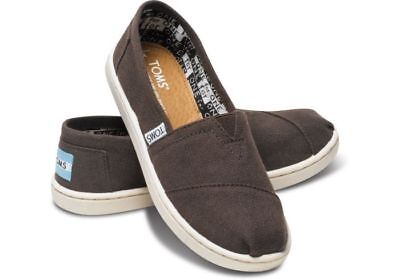 TOMS Youth Classics Chocolate Canvas Shoes Kids New NIB