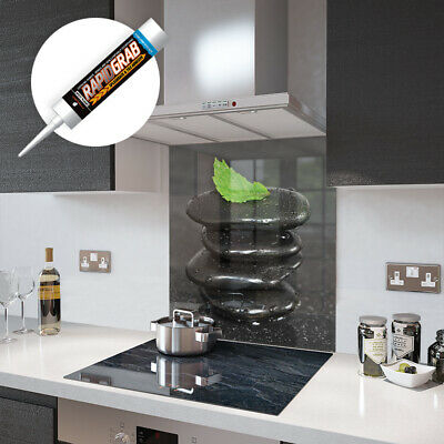 Leaf and Pebble Stack Glass Splashbacks and Accessories - Made By Premier Range