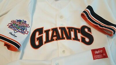 0486be3c4 Will Clark 1989 World Series San Francisco Giants Authentic Rawlings Jersey  Sz44