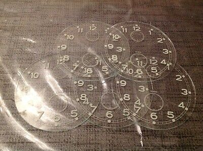 Vintage German Alarm Clock Glass Printed Dial 87mm 5 Available £9.99 Each