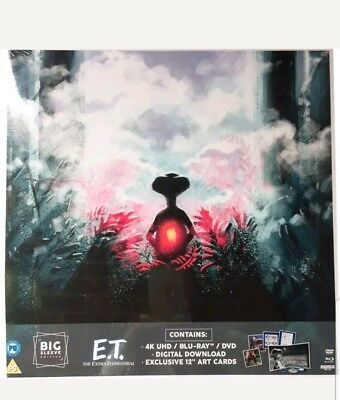 E.T. The Extra Terrestrial 4K UHD + Blu Ray + DVD Big Sleeve Limited Edition NEW