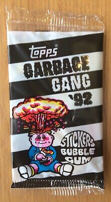 1992 UK Garbage Pail Kids New Sealed Pack ~The Garbage Gang~ Super Rare!!