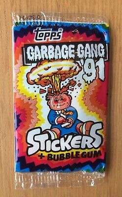 1991 UK Garbage Pail Kids New Sealed Pack~The Garbage Gang~ Super Rare!!
