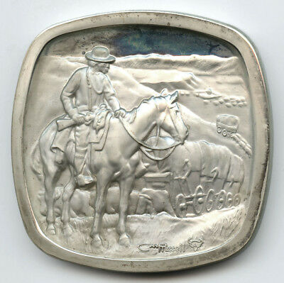 The Old West The Wagon Boss 4 oz Sterling Silver The Lincoln Mint
