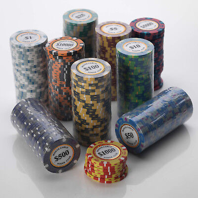 Poker Chips - 14G Heavy Poker Chips in 25pcs per Roll Value - Many Values