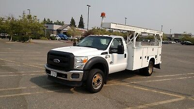 2001 F0Rd F450 7.3L Diesel 203K Miles Altec Bucket Truck Runs And Drives Great!!