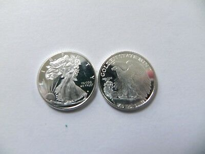 50 - 1/10 oz. 999 Fine Silver Rounds -- Walking Liberty Design - BU - New