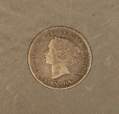 1887 Canada 5 Cent Silver Circulated    ** Free U.S. Shipping **