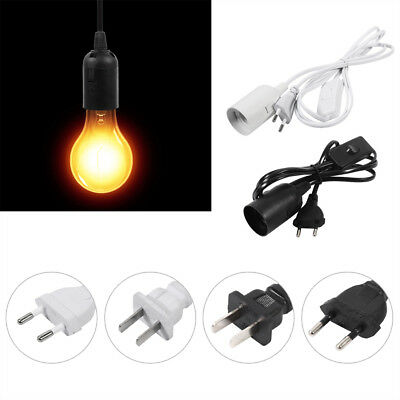 E27 Plug-In Hanging Pendant Light Fixture Lamp Bulb Socket Cord with Switch