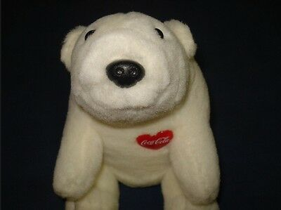 Coca Cola Coke Plush Teddy Bear w Heart Polar  Toy 4p11 Stuffed Animal Toy Retro