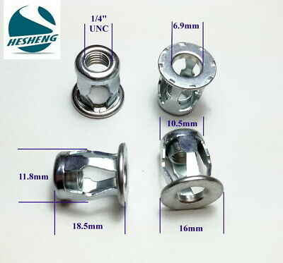 "Qty 10 1/4"" UNC Zinc Steel Blind Jack Nut Threaded Insert Nut Nutsert Jacknut"
