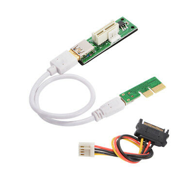 Mini PCI-E X1 Extension Cable Expansion Card 90° with SATA Power Cable AC1291