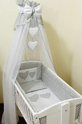10pcs CRIB BeddingSet /Bumper ALL ROUND/ Sheet/Duvet/Covers/CANOPY/Canopy Holder