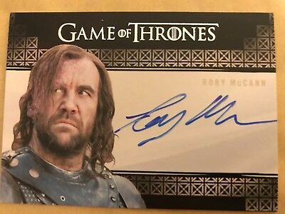 GAME OF THRONES - SEASON 7: VALYRIAN STEEL AUTOGRAPH CARD: RORY McCANN