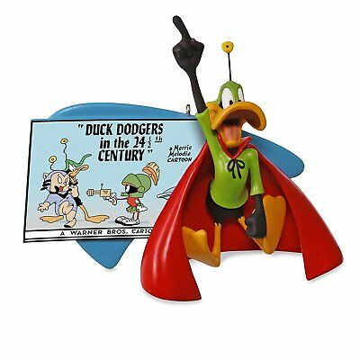 2017 Hallmark Ornament  Duck Dodgers in 24 1/2 Century -Daffy Duck