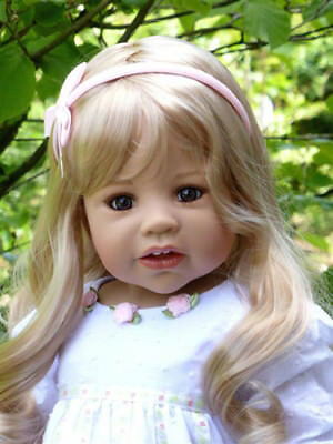 Masterpiece Dolls Sunday's Child Blonde Wig, Fits Up To a 17-inch Head
