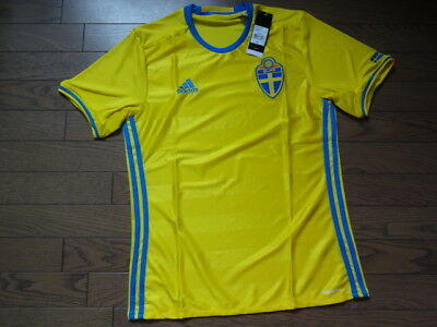 Sweden 100% Official Original Soccer Jersey Shirt M 2016/17 Home BNWT NEW [2463]