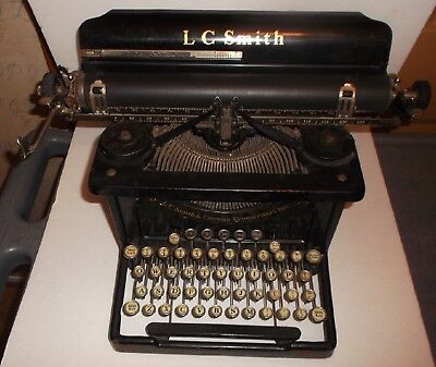 Estate Find Antique L C Smith Corona 8 14 Typewriter w/ orig. shipping Crate VG