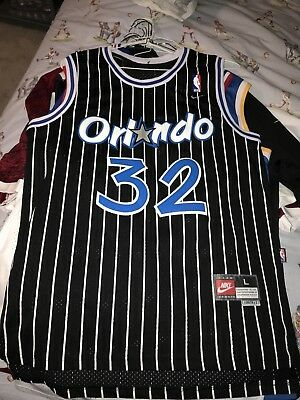 Shaquille O Neal Shaq  32 Orlando Magic Throwback Basketball Jersey Stitch 68199a90d