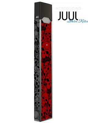 Skin Decal Wrap for JUUL4 Protective Vinyl Cover Sticker Kit Skulls red