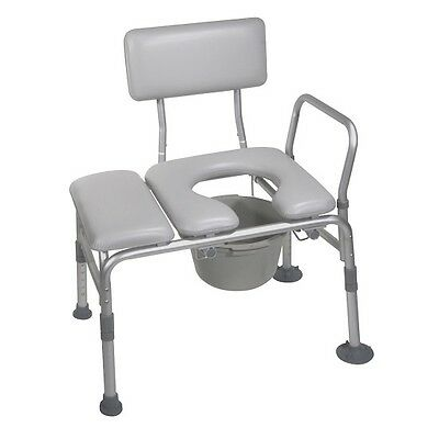 Handicap Toilet Seat Handicapped Padded Transfer Chair Bench Commode Bathroom