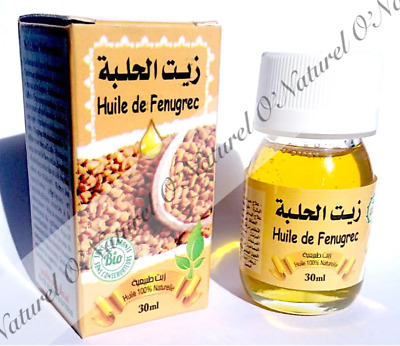Huile de Fenugrec 100% Pure  & Naturelle 30ml Fenugreek Oil, Aceite de Fenogreco