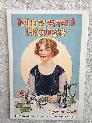 "Maxwell House Coffee  ""Coffee or Tea"" 13 Page Booklet Cheek-Neal"