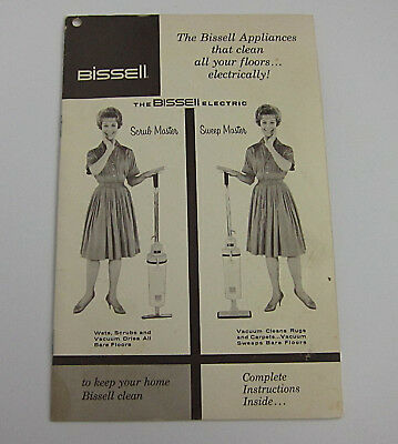 VTG 60s Bissell Scrub Master Sweep Master Owners Manual Happy Housewife Photos