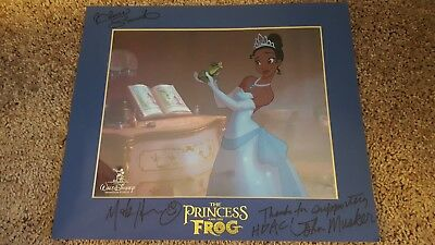 """DISNEY'S """"THE PRINCESS AND THE FROG"""" LTD EDITION SERICEL - signed by Dir. RARE!"""
